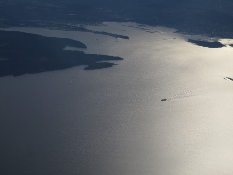 Flying over Vancouver Island