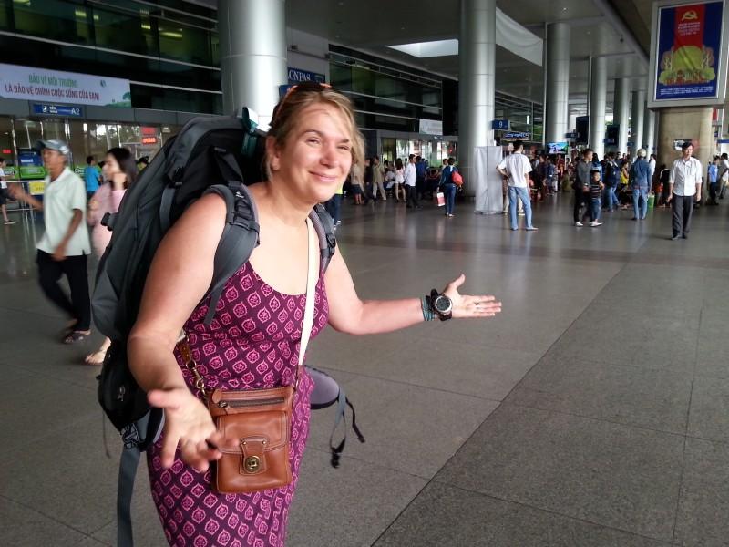 Terry arrive in Vietnam