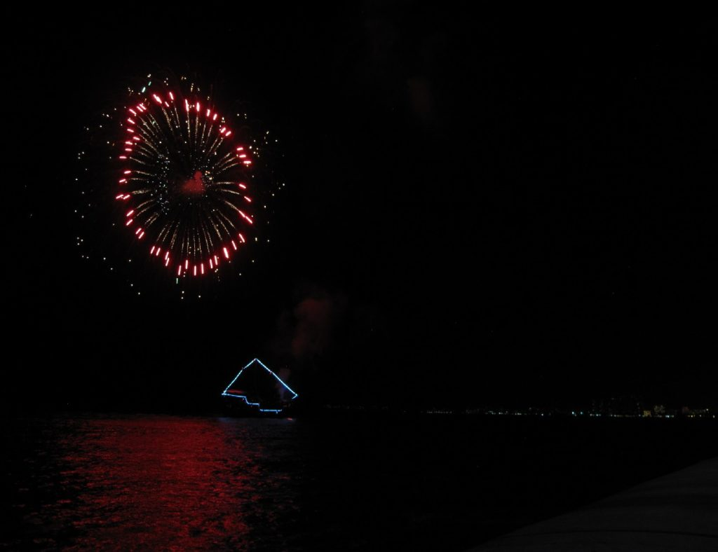 Fireworks from the Pirate Ship