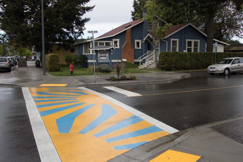 Colorful pedestrian walk