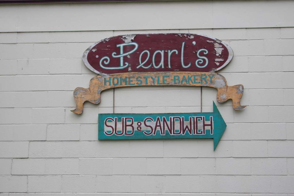 Artistic sign for the bakery