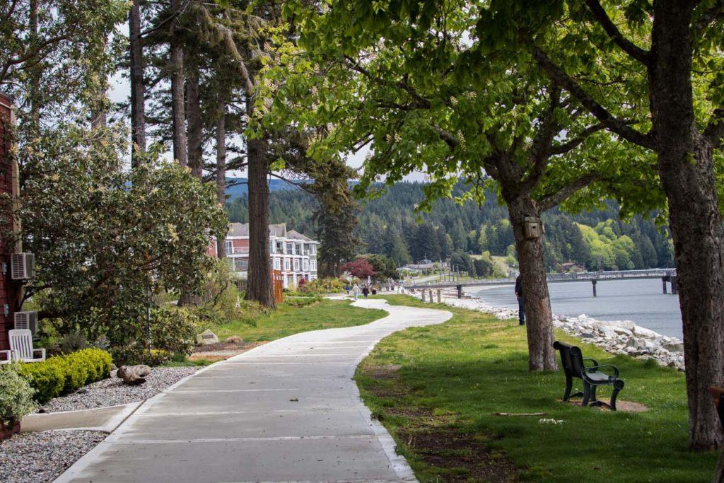 Board walk along the coast