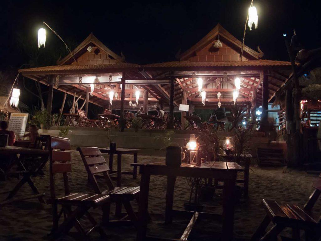 Restaurant along the beach