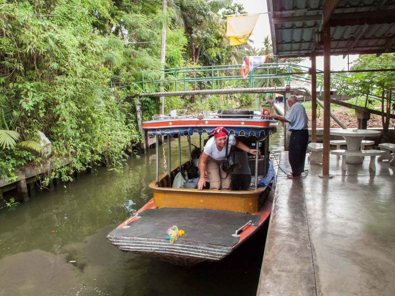 Our tour on the klong